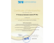 Certificate of Membership IFEAT PT Sinkona Indonesia Lestari